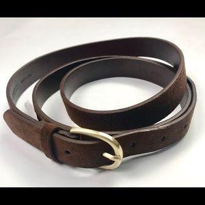 Lands End Brown Leather Belt 3X  24w-26w